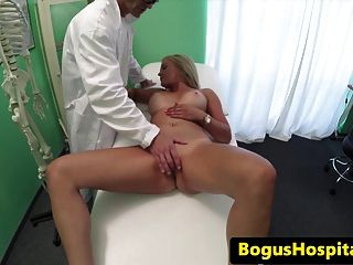 Euro Patient Creampied During Doctors Exam