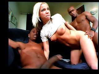 Two Black Dicks One White Chick