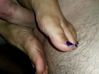 A Dirty Footjob And Sole Job From My Wifes Dirty Soles