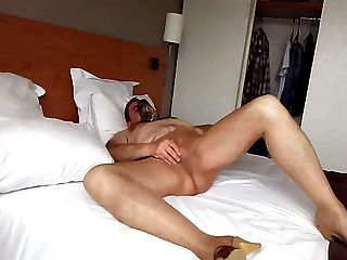 Cumshot Through Nylon Pantyhose 001