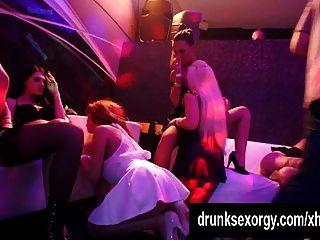 Lesbian Pornstars Fuck In A Club