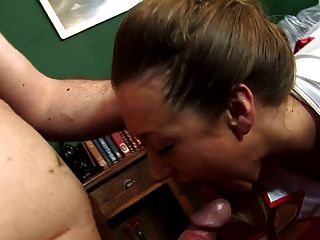 Adorable Chic Siphons Cum While Getting More Delivered In Her Pussy