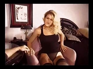 Beautiful Blonde In Stockings Is Horny For His Cock
