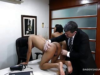 Not Daddy And Asian Boys Raw Threesome