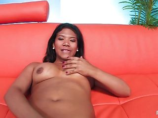 Latina Cutie Emy Reyes Pleasures Her Pussy On The Couch