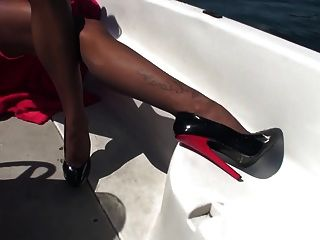 Sexy Girl Wet Pantyhose And High Heels