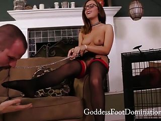 Roxanne Caged Stocking Slave Trailer