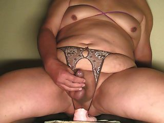 Shaved Smooth Sissy Dildo Ride,jerk&cum Nov-29-2014