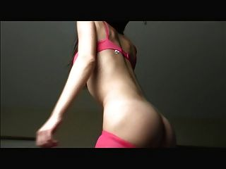 Shaking Her Ass In Pink Pantyhose
