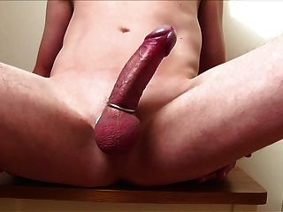 Flexing And Edging My Stiff Cock Then Cumming Hard