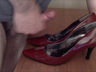 Cum On Red Patent Heels Shoes