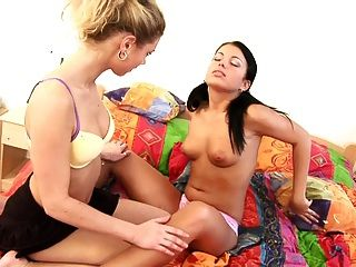 Teen Filthy Sluts In Nasty Lesbian Action