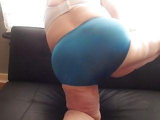Ass Wigling In Blue Panties