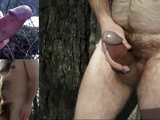 3 Thick Cumshots In The Snow Plus Winter Cock-ass Slideshow