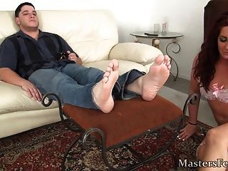 Girl Worships Male Feet
