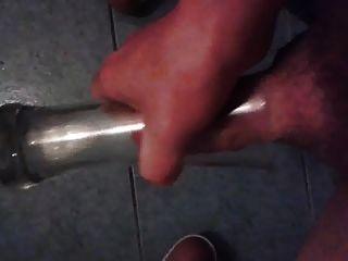 Cum In Big Beer Glass.