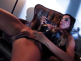 Ariella Ferrera Fucks Herself With A Big Glass Toy