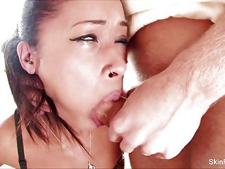 Skin Diamond Gets Covered In Cum From A Hot Threesome