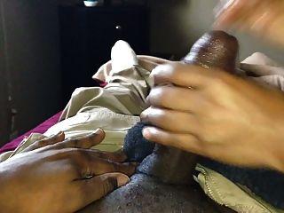 Ebony Handjob