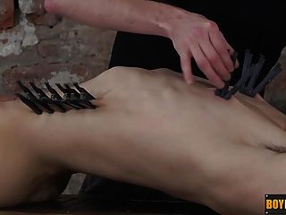 Kieron Pegs His Body And Dick Then Takes A Ride On His Cock