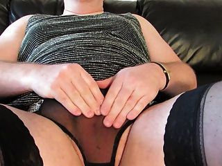 Upskirt Cock Rubbing, Makes Me Hard And Horny. No Cum.