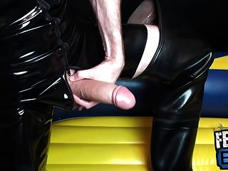 Dick Pump Session In Rubber And Waders