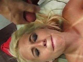 Blonde Takes 2 Loads To The Face