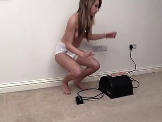 Diaper Girl Chloe Toy Tries The Sybain For The First Time