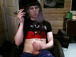 Ashley Valentine Black Hair Smoke And Jerk