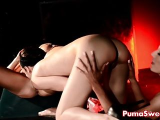 Euro Babe Puma Swede Fucks Tiffany & Elle In Threesome!
