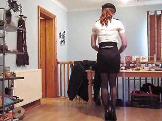 Wearing A Sexy Wpc Uniform