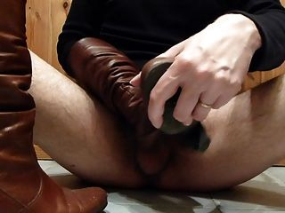 Cum In Wifes Brown Leather Boots