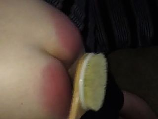 Nasty Paddle Beating For Tiny Red Cheeks