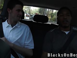 Sean Dean Works On His First Black Cock