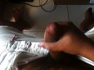 Brazilian Black Guy Handjob Wank His Tool And Cum