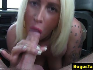 Chubby Brit Sucking On Cabbies Nuts