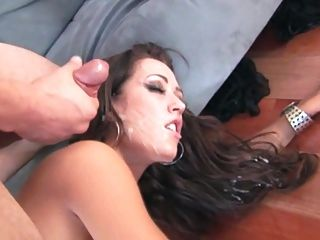 Capri Gets Her Slut Face Doused In Cum