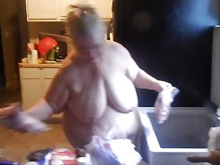 Naked In Kitchen