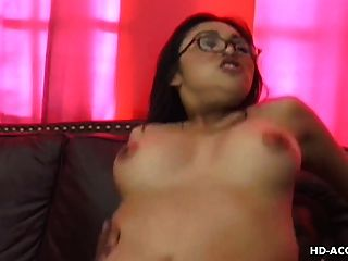 Glasses Wearing Busty Asian Fucks A Black Bull