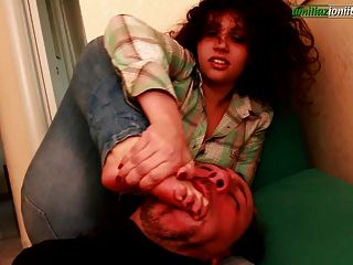 Elisa S First Time - Foot Fetish And Hand Smother