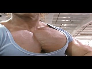 Fbb Flexes Biggest Pecs Ever