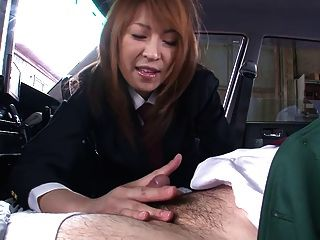 Little Whore Sucks Cock In A Car