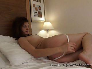 Newbie Romanian Hottie Masturbating To Screaming Orgasms