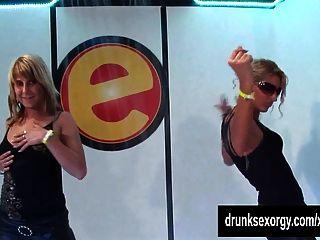 Horny Girls Dancing Erotically In A Club