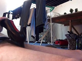 Fucking Two Pairs Of Boots From My Girlfriend An Cum Inside