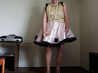 Sissy Ray In Pink Sissy Dress And Pink Petticoat Part 2