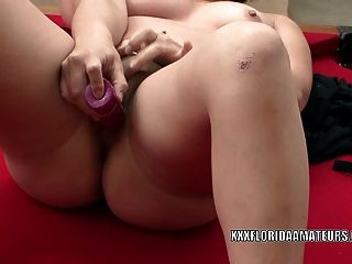 Cute Coed Jackie Fucks A Toy While Her Girlfriend Watches