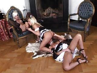 2 Maids Satisfy Their Lesbian Boss