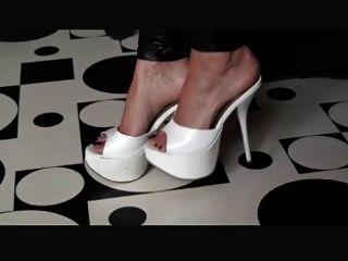 White High Heel Mules Teaser