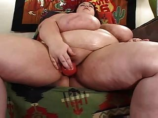 Cute Bbw Is Doing Her Dildo